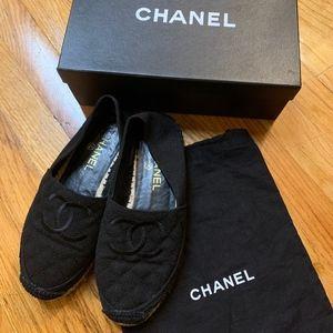 Chanel Fabric Biarritz Espadrilles sz37